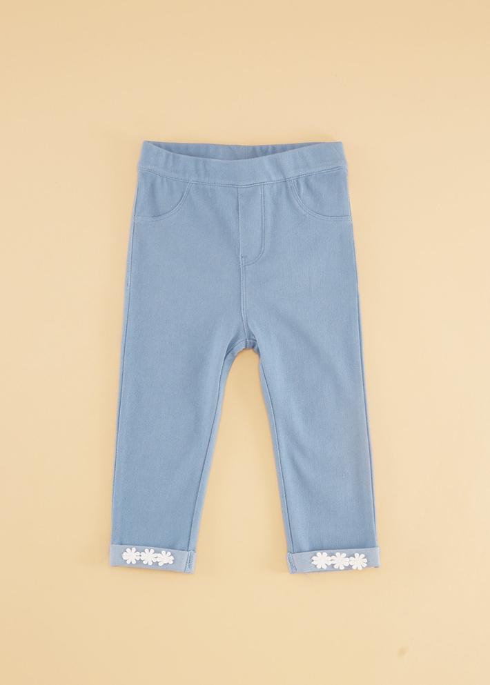 C&A女婴儿甜美花边弹力休闲长裤宝宝裤子2020春季新款CA200226695