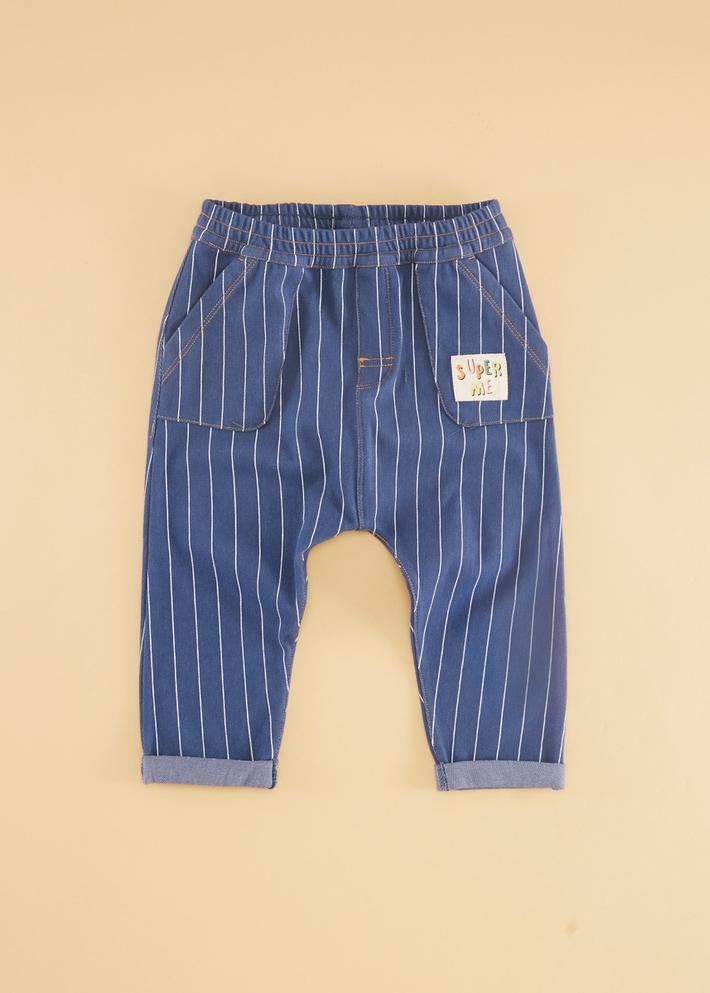 C&A男婴儿舒适弹力休闲卷边长裤宝宝裤子2020春季新款CA200226697