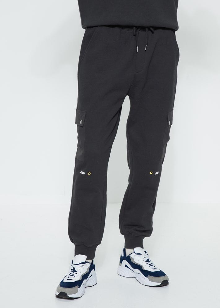 C&A松紧腰针织棉束脚工装裤加绒运动裤男2020早春新款CA200224783