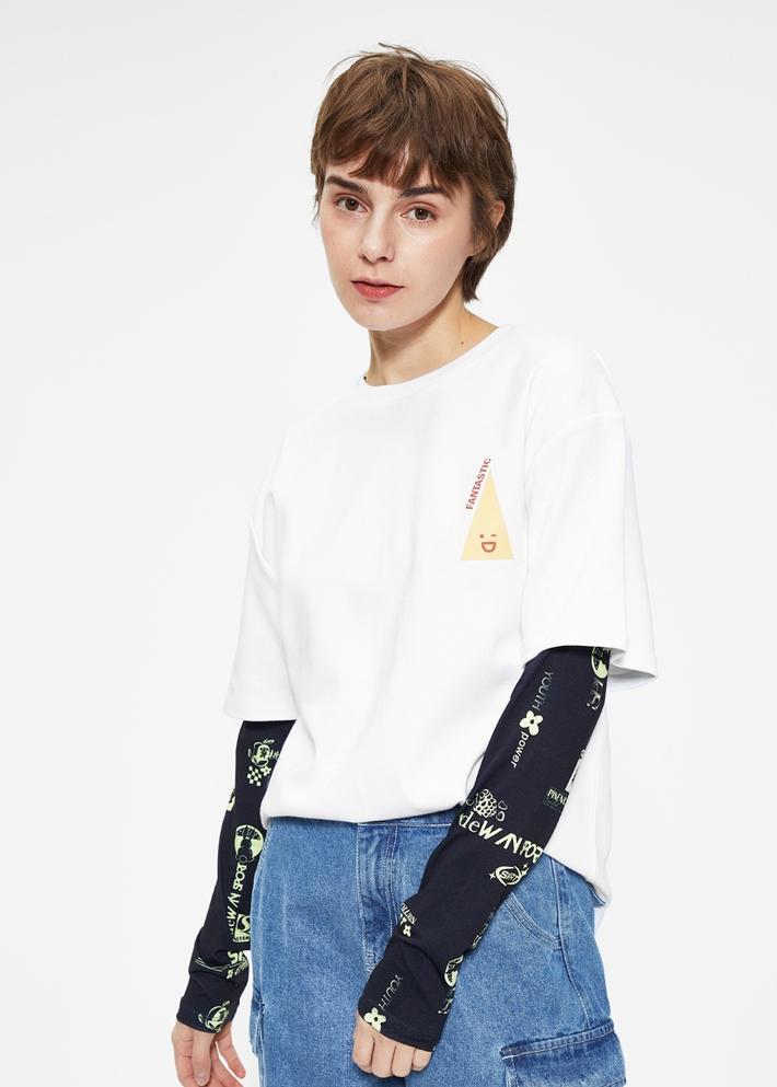 C&A基础款圆领短袖棉T恤女士学生2020春季新款CA200226452