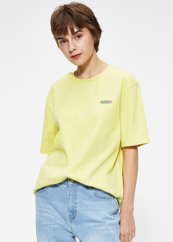 C&A潮流贴布纯棉宽松圆领短袖T恤女士2020春夏新款CA200226472
