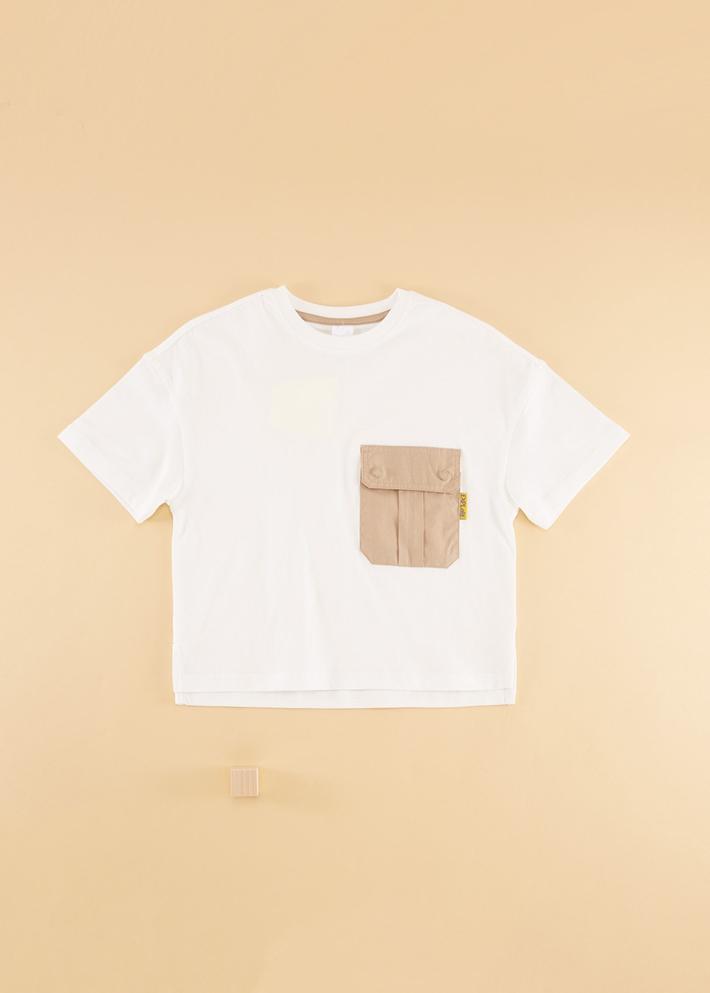 C&A男童纯棉口袋圆领短袖T恤2020春夏新款儿童上衣CA200226398