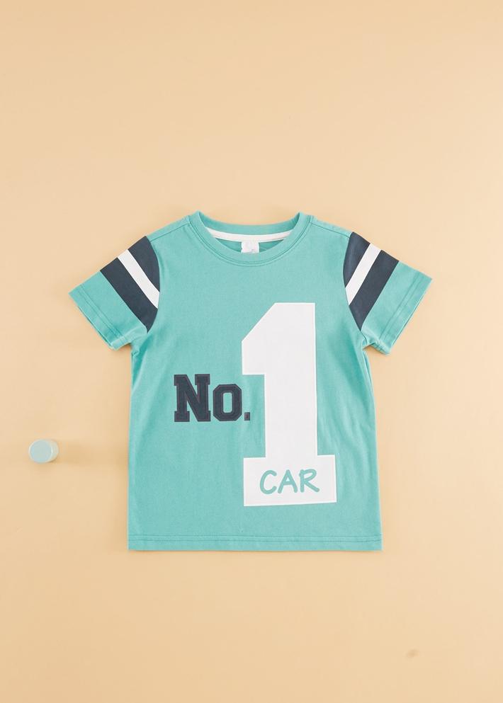 C&A男童学院风贴布印花纯棉圆领短袖T恤2020春季新款CA200226400