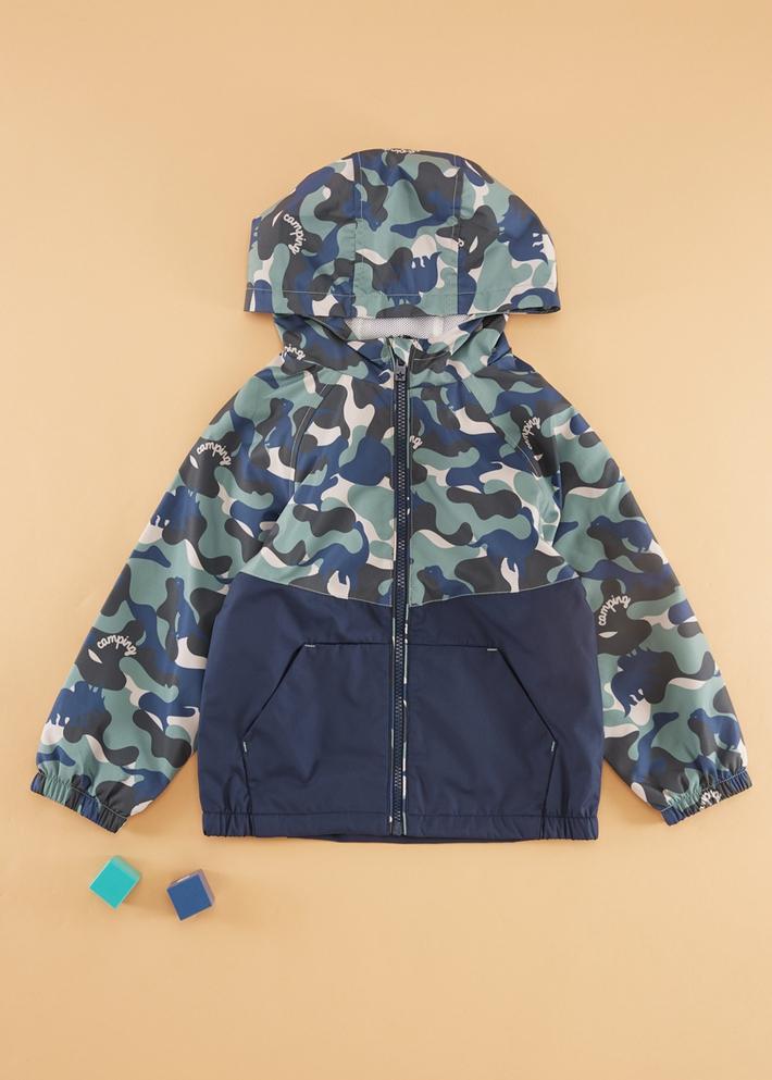 C&A男童迷彩连帽拉链夹克2020春新款冲锋衣休闲外套CA200226440