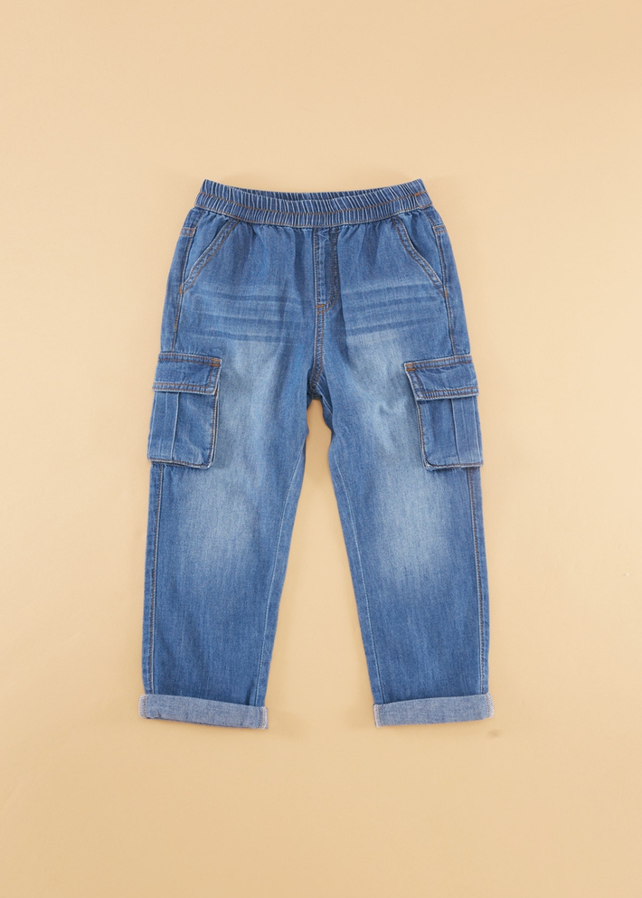 C&A男童松紧腰纯棉薄款工装口袋牛仔裤2020春季新款CA200226735