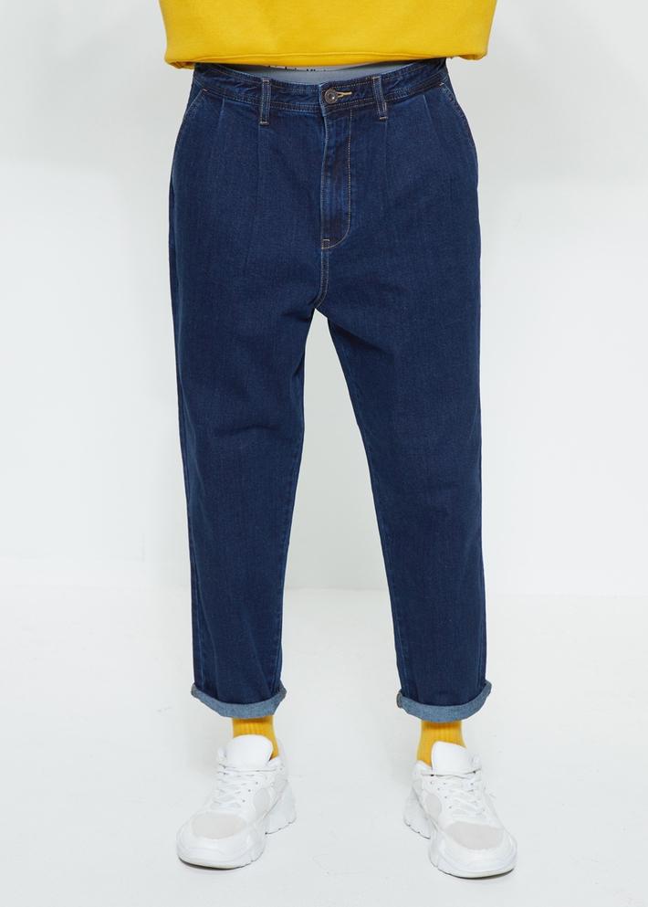 C&A水洗磨白宽松褶饰锥形牛仔裤男士2020春季新款CA200225161