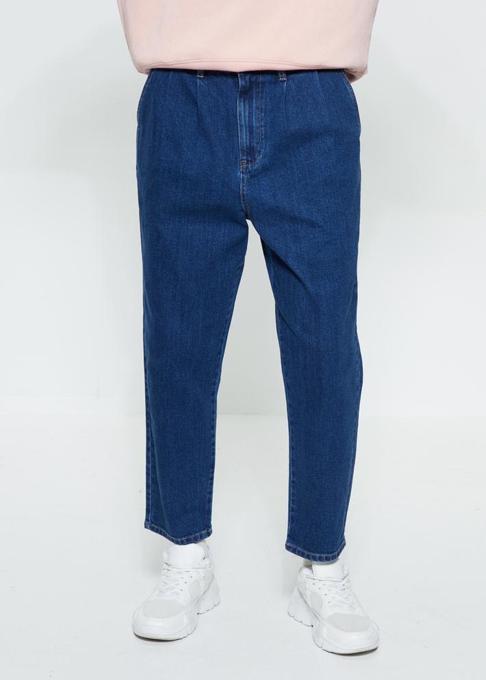 C&A水洗磨白宽松褶饰锥形牛仔裤男士2020春季新款CA200225163