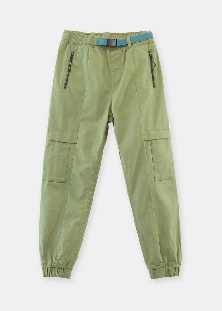 C&A织带松紧腰纯色束脚工装裤男士2020春季新款裤子CA200224738