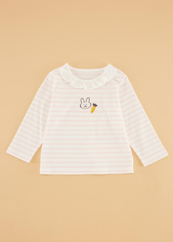 C&A女婴儿花边卡通印花纯棉长袖宝宝T恤2020春季新款CA200223953