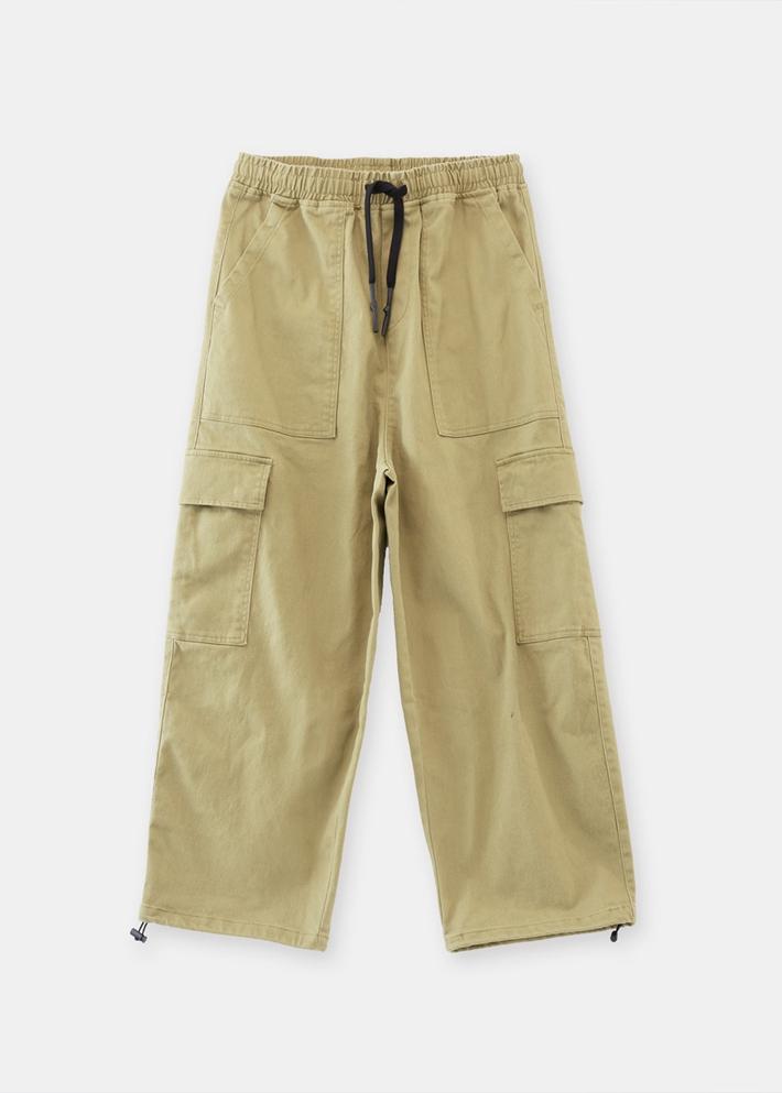 C&A松紧腰宽松直筒抽绳束脚工装裤男士2020春季新款CA200224701