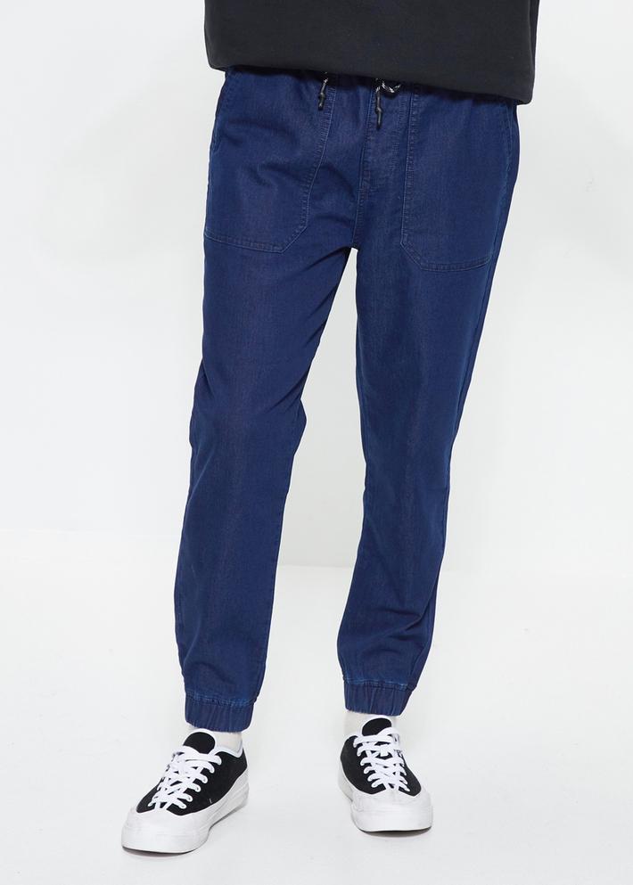 C&A松緊腰彈力針織時尚束腳牛仔褲男士2020春季新款CA200225074