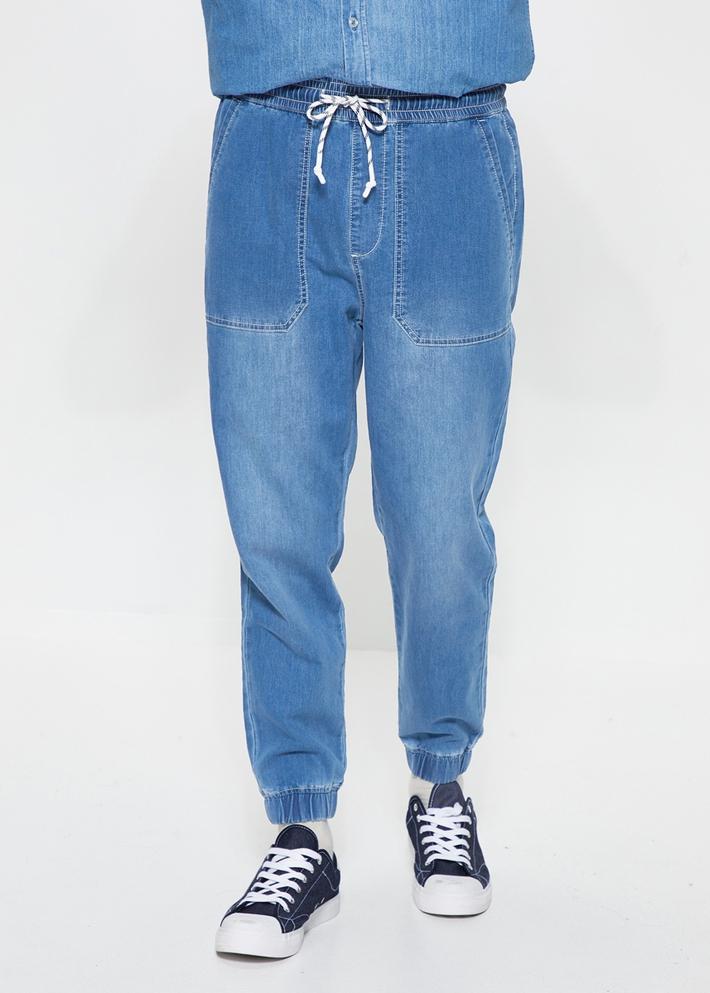 C&A松紧腰弹力针织时尚束脚牛仔裤男士2020春季新款CA200225078